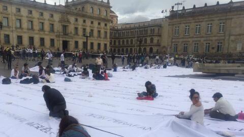 Así luce la Plaza de Bolívar de Bogotá que est&aacu...