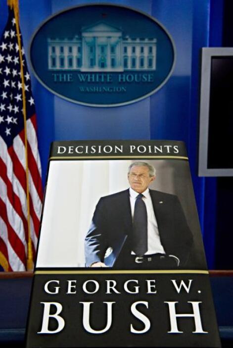 El libro de Bush salió a la venta el martes con un tiraje inicial de 1.5...