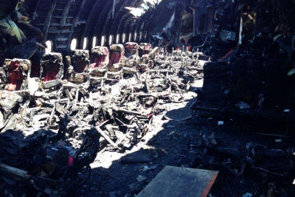 También se hizo pública una imagen del interior de la aeronave.