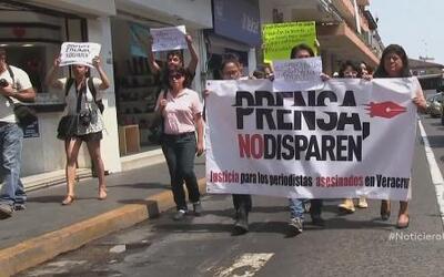 Marchan para exigir la liberación de un periodista a manos del crimen or...