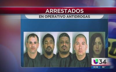 Cinco arrestados en operativo antidrogas