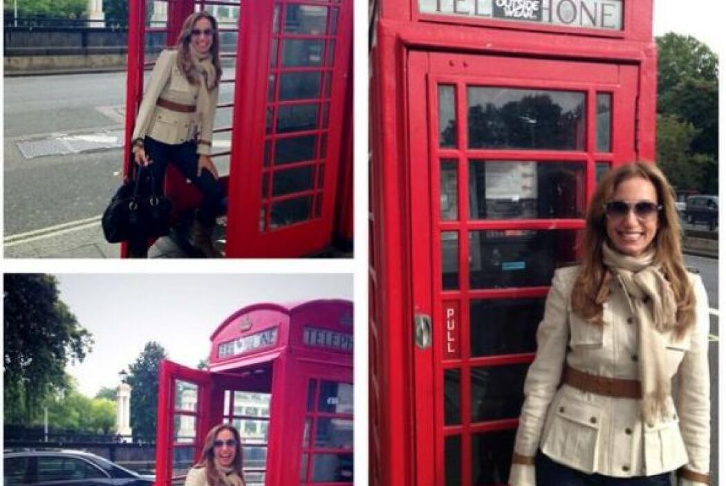 La Flaca se fue de viaje a Londres, Inglaterra, donde se tomó varias fot...