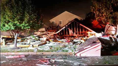 Explosión de gas en Romeoville