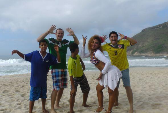 La euforia estaba en su máximo esplendor en las playas cariocas.