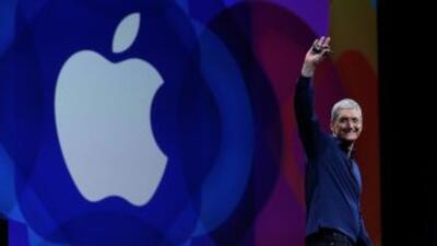 El consejero delegado de Apple, Tim Cook, en San Francisco