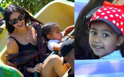 Kim Kardashian con hijos
