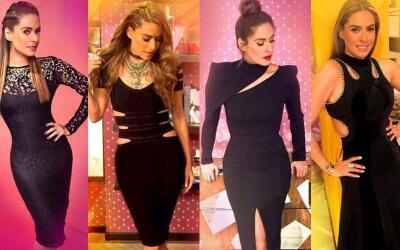 Promo vestidos negros Galilea