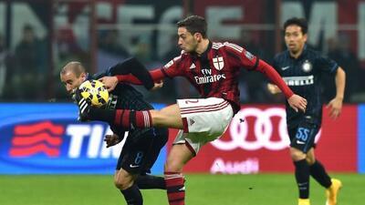 Tras el empate el Milan se ubica en la séptima posición y el Inter en No...