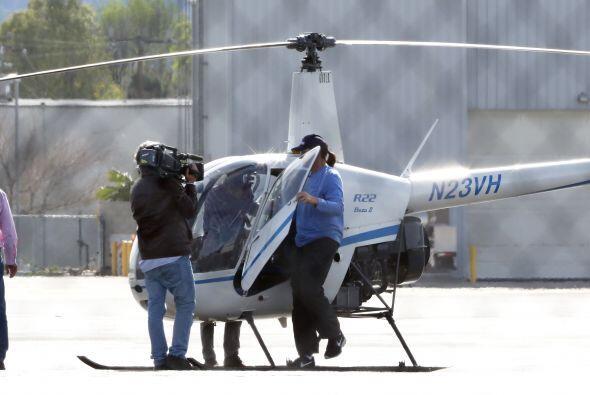 Más fotos de la aventura de Bruce en helicóptero.