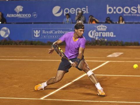 El español Rafael Nadal, quinto en la clasificación mundial, se clasific...