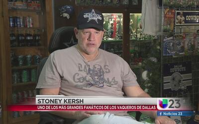Un verdadero fanático de los Dallas Cowboys!
