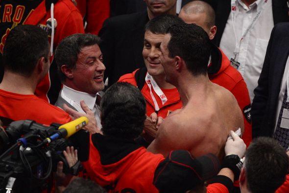 'Rocky' habló con el campeón ucraniano antes de la pelea.