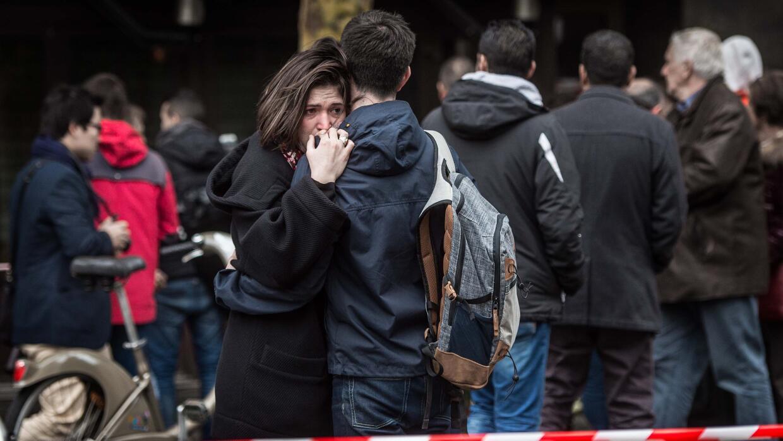 Vigilia por las víctimas de los ataques de París.