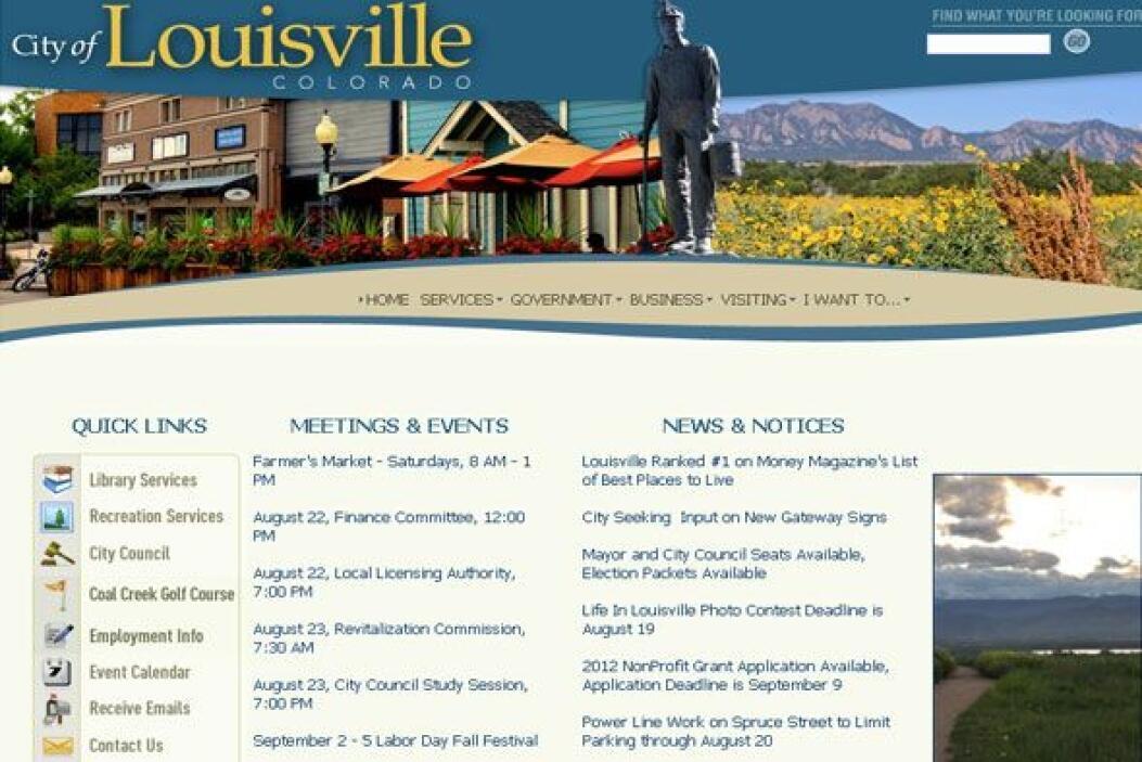 1. LOUISVILLE, CO.- Con 18,400 habitantes, y sólo 6.3% de desempleo, est...