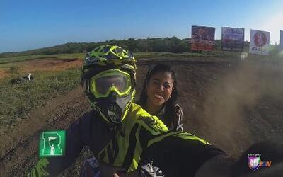 Nataliz Jimenez con la adrenalina al cien en República Dominicana