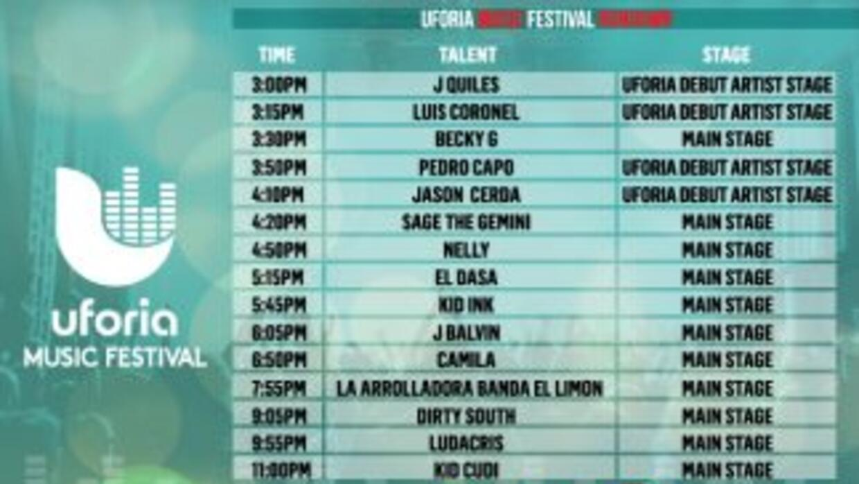 Uforia Festival 2014 Schedule
