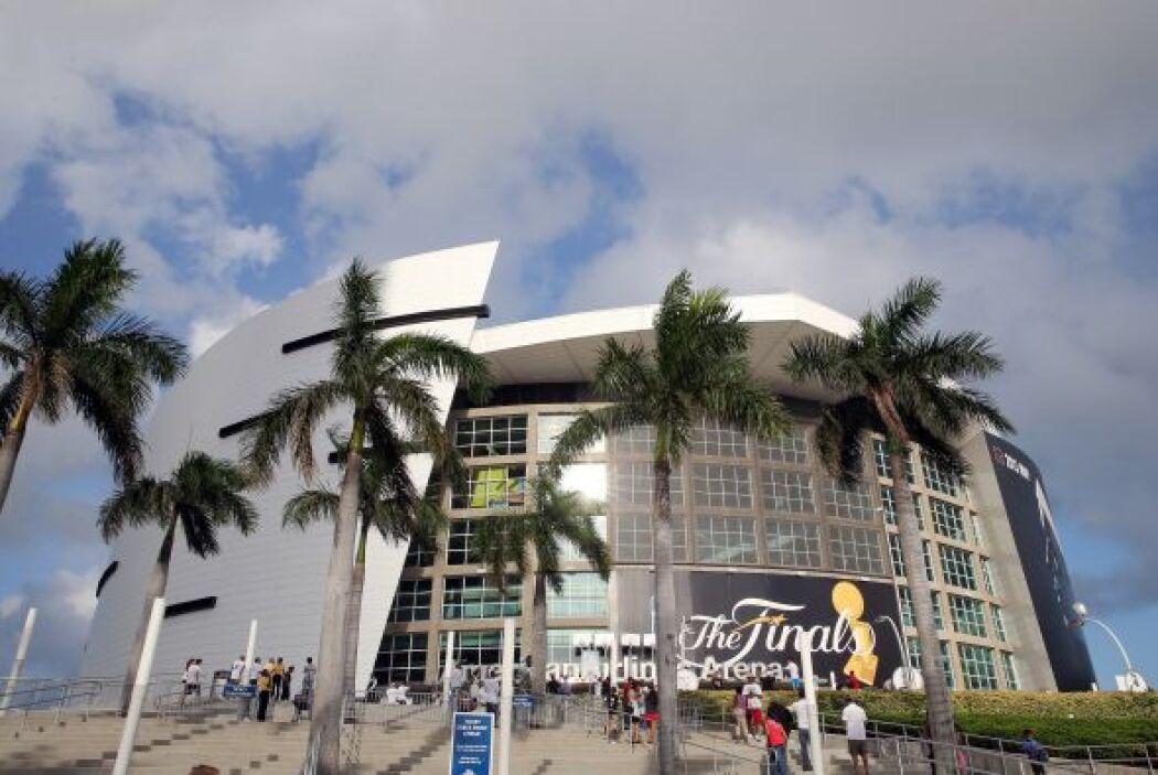 El American Airlines Arena fue la sede del Juego 2 de las Finales de la...