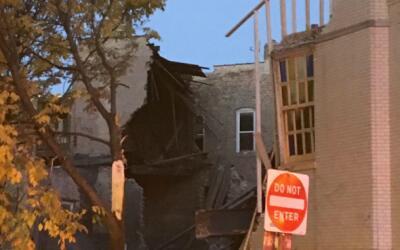 Colapsa iglesia en Wicker Park