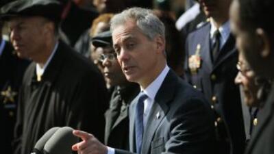 El alcalde Rahm Emanuel anunció el plan durante una rueda de prensa en C...