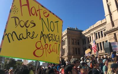 Manifestantes en el Capitolio de Texas