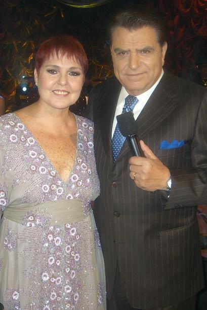 Lupita D´Alessio habló largo y tendido con Don Francisco.
