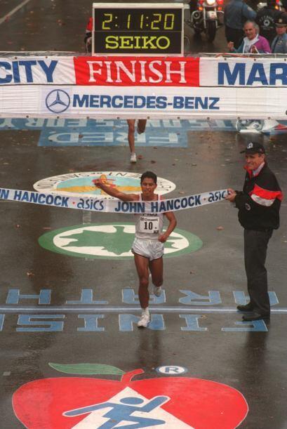 El veterano maratonista mexicano Germán Silva Martínez, or...