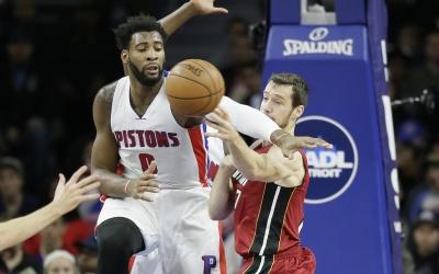 Por cuarta vez en la campaña, Drummond capturó una veintena de rebotes.
