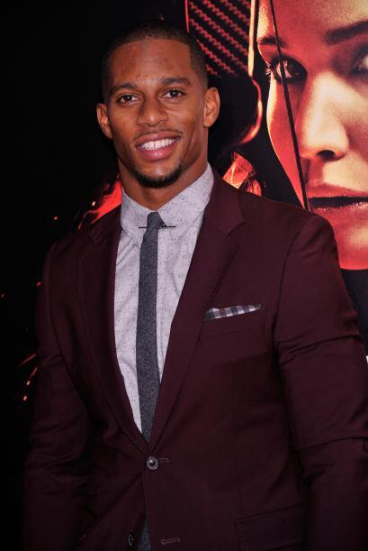 "Victor Cruz En la premiere de ""The Hunger Games: Catching Fire&quot..."