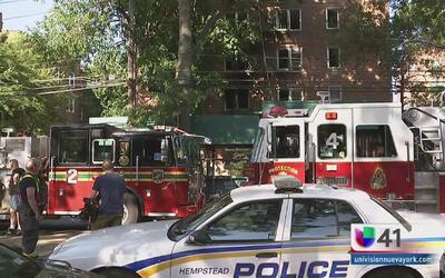 Devastador incendio en Long Island