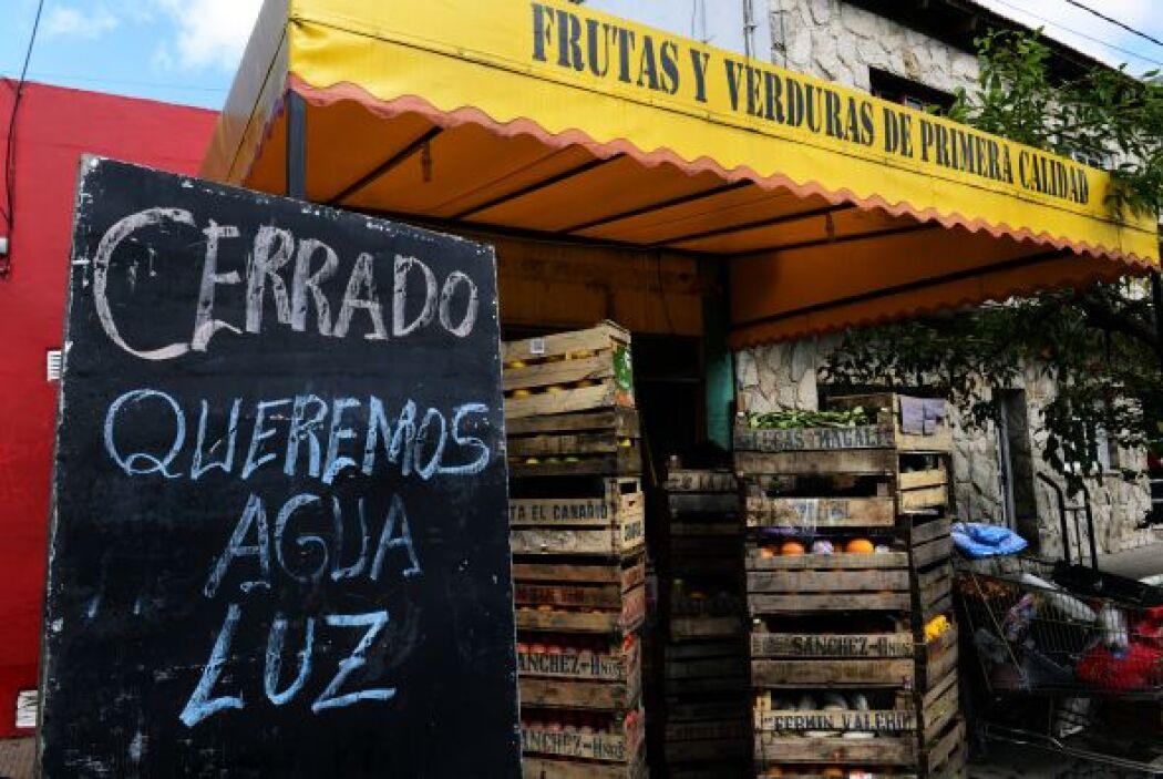 La presidenta Cristina Kirchner agradeció la solidaridad de la población...