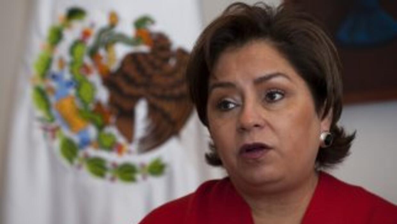 La canciller mexicana Patricia Espinoza. Datos informan que la Secretarí...