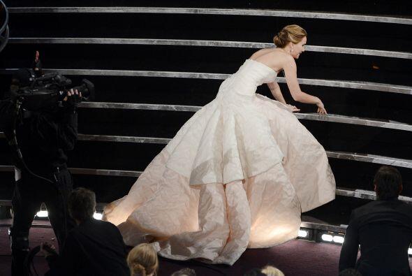 Cómo olvidar la caída de Jennifer Lawrence en la entrega del Oscar 2013.