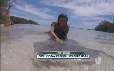Lindsay Casinelli, la domadora de mantarrayas