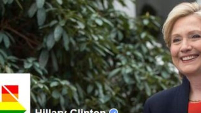 Cambio de imagen del perfil de Hillary Clinton en Facebook.