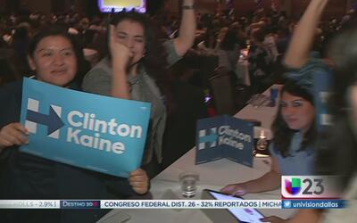Demócratas de Dallas confían en que Hillary Clinton ganará la elección p...