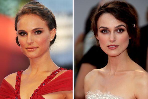 Natalie Portman y Keira Knightley parecen hermanitas.  Aquí los v...