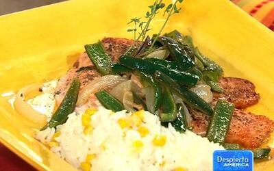 Receta de Salmón con chile poblano en la cocina de Karla