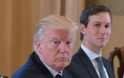 Donald Trump junto a su yerno y consejero Jared Kushner