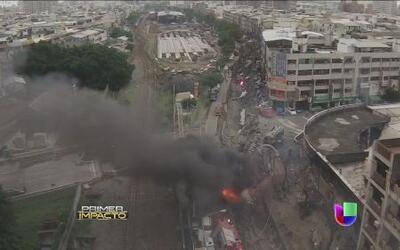 Terror en Taiwán cuando explotaron las tuberías de una ciudad