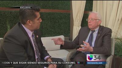 Sanders habló con Univision de sus propuestas para los hispanos