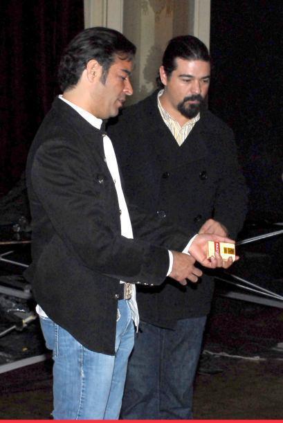 Pablo Montero y su hermano Oliver.