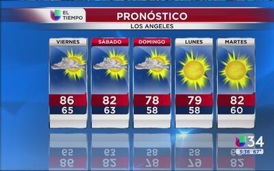 Clima otoñal se avecina para el sur de California