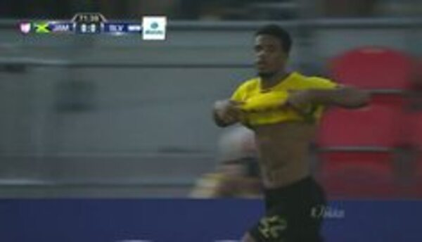Goooolll!! Garath McCleary mete el balón y marca para Jamaica
