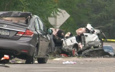 Destruidos quedaron los vehículos involucrados en el accidente oc...
