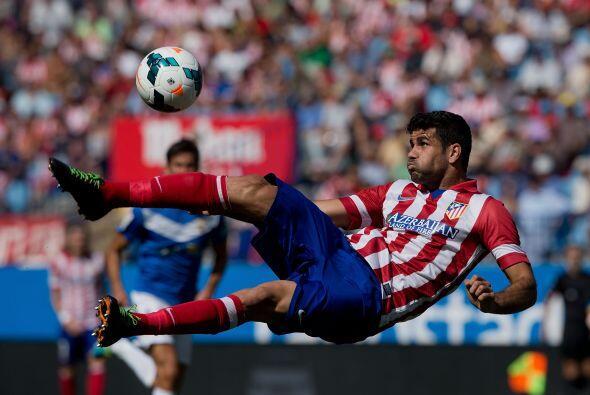 El brasileño Diego Costa también dio muestras de su calidad con este esp...