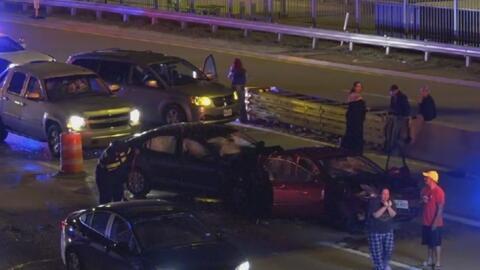 Accidente múltiple provoca cierre de la Good Latimer Expressway