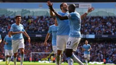Alvaro Negredo repitió otra jornada como goleador para el Manchester City.