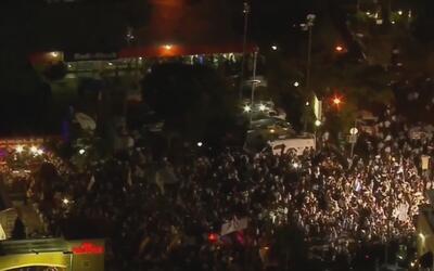 Unas 4,000 personas se reunieron en la Calle Ocho para pedir la libertad...