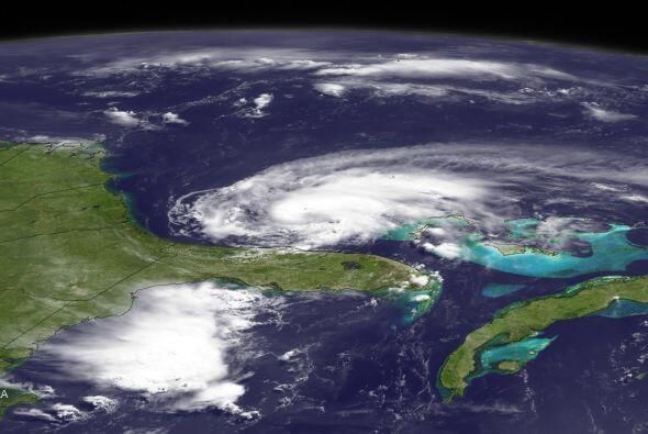 Esta es una vista satelital de la tormenta.