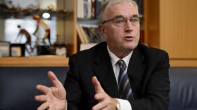 Pat McQuaid, presidente de la UCI.